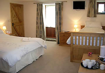 Quality rated bed and breakfast accommodation Callington Cornwall